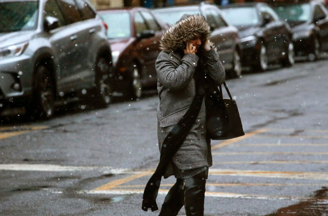 A woman speaks on her phone in Hoboken, New Jersey. The limits on the surveillance are due to expire in 2019, and the ACLU says more information is needed for a healthy debate before the law is reauthorized or changes are made.