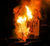 A fire at an apartment building on Christmas morning displaces several families.
