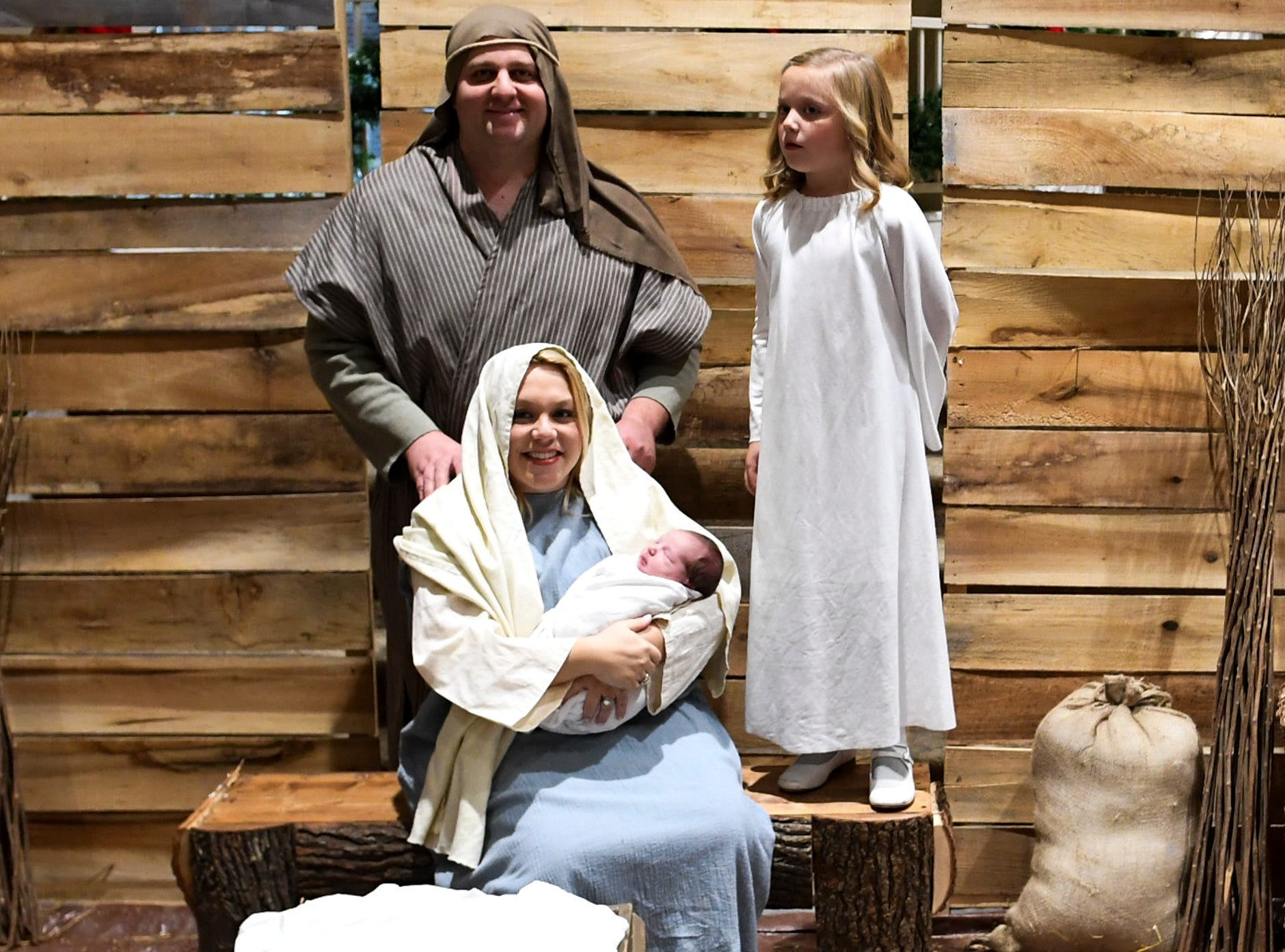 West Jackson Baptist Church hosted Christmas Eve at the church, Monday, December 24. A live Nativity scene was featured at the event.