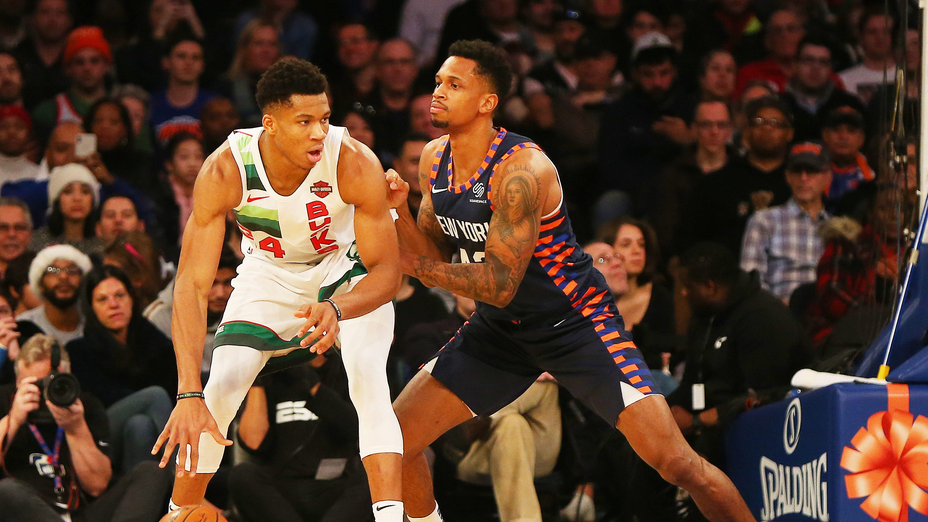 cac188bedd4 NBA  Bucks topple Knicks for first Christmas Day win since 1977