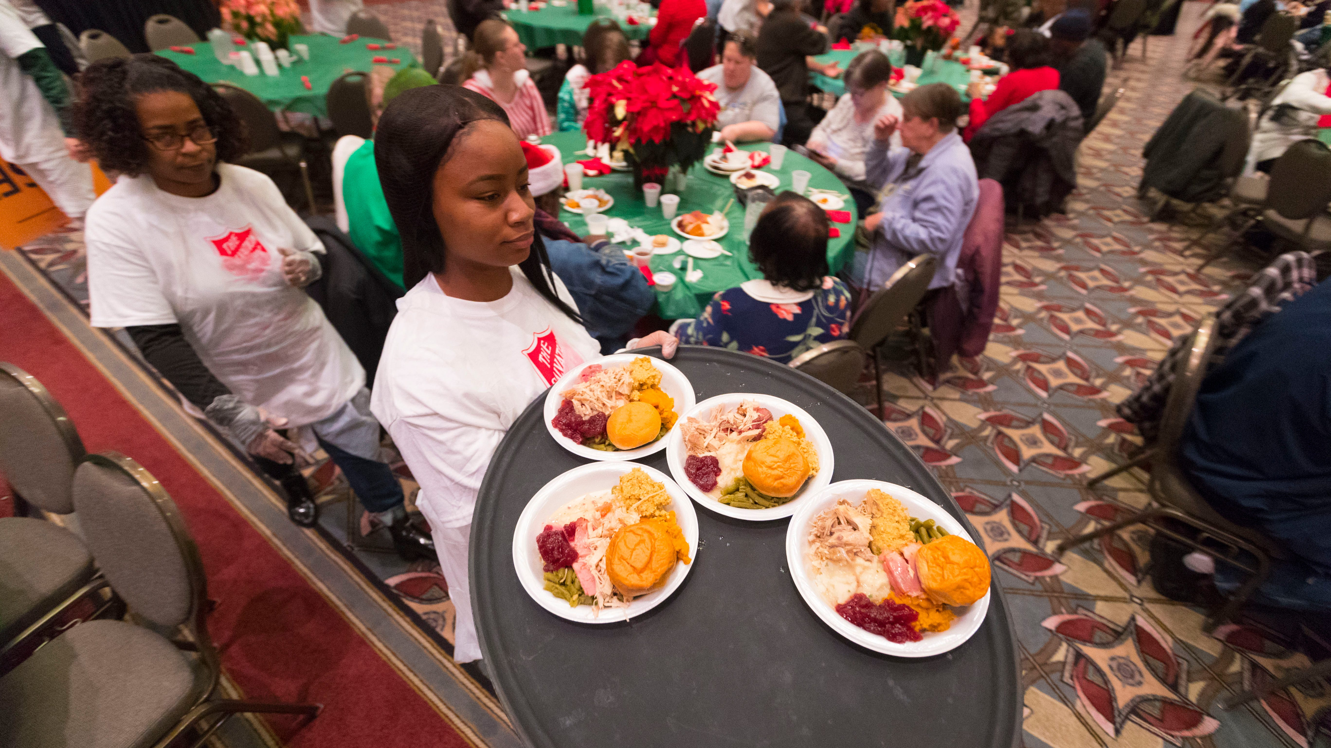 salvation army christmas family feast serves thousands in