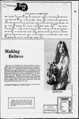 """Making Believe"" was honored in 1978 by BMI as part of the 101 award-winning country songs. It hovered near the top of Billboard country charts in both 1955 and 1977, and was covered by a host of country stars over the years. A full page story about the song was printed in the Tennessean in 1977 after Emmylou Harris covered it."