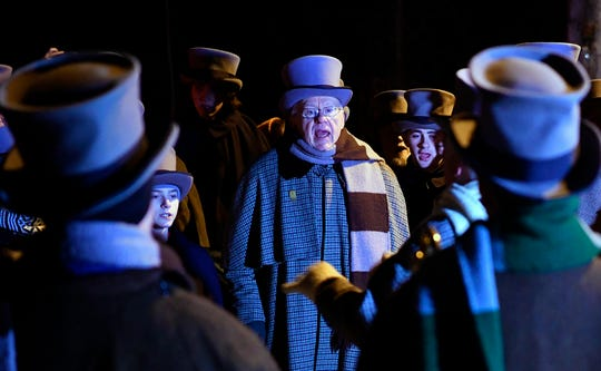 As they have for the past 171 years, the Glen Rock Carolers take to the streets of Glen Rock on Christmas morning, Tuesday, December 25, 2018.John A. Pavoncello photo