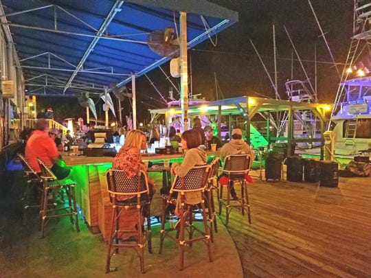 Waterfront dining at Twisted Tuna in the Manatee Pocket a 4290 S.E. Salerno Road in Stuart