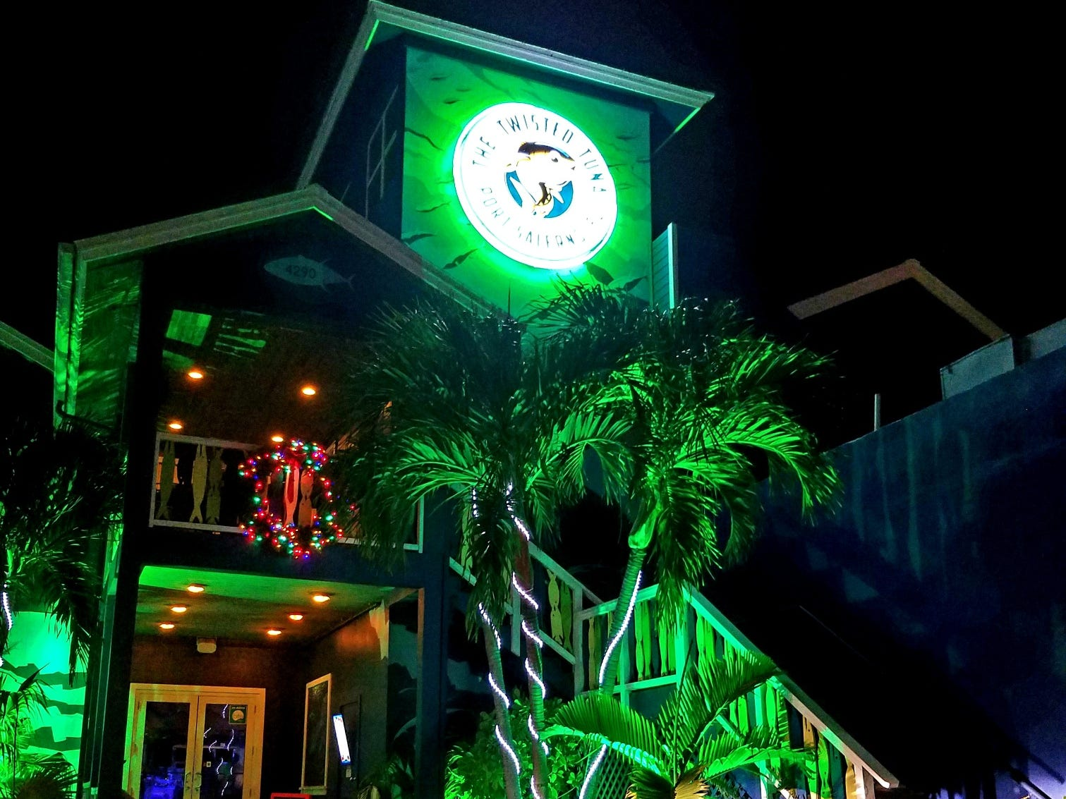 Twisted Tuna dressed up for the holidays at 4290 S.E. Salerno Road in Stuart.