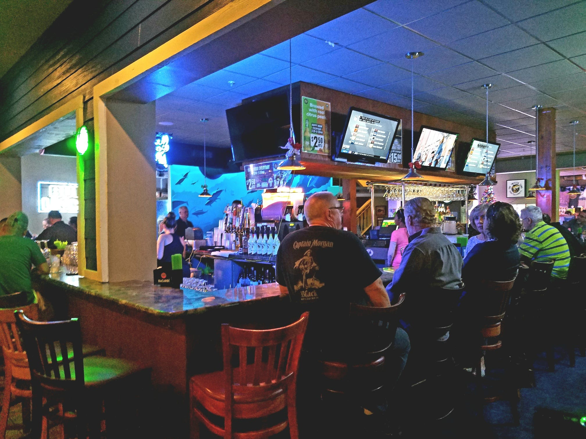 Bar area at Twisted Tuna at 4290 S.E. Salerno Road in Stuart.
