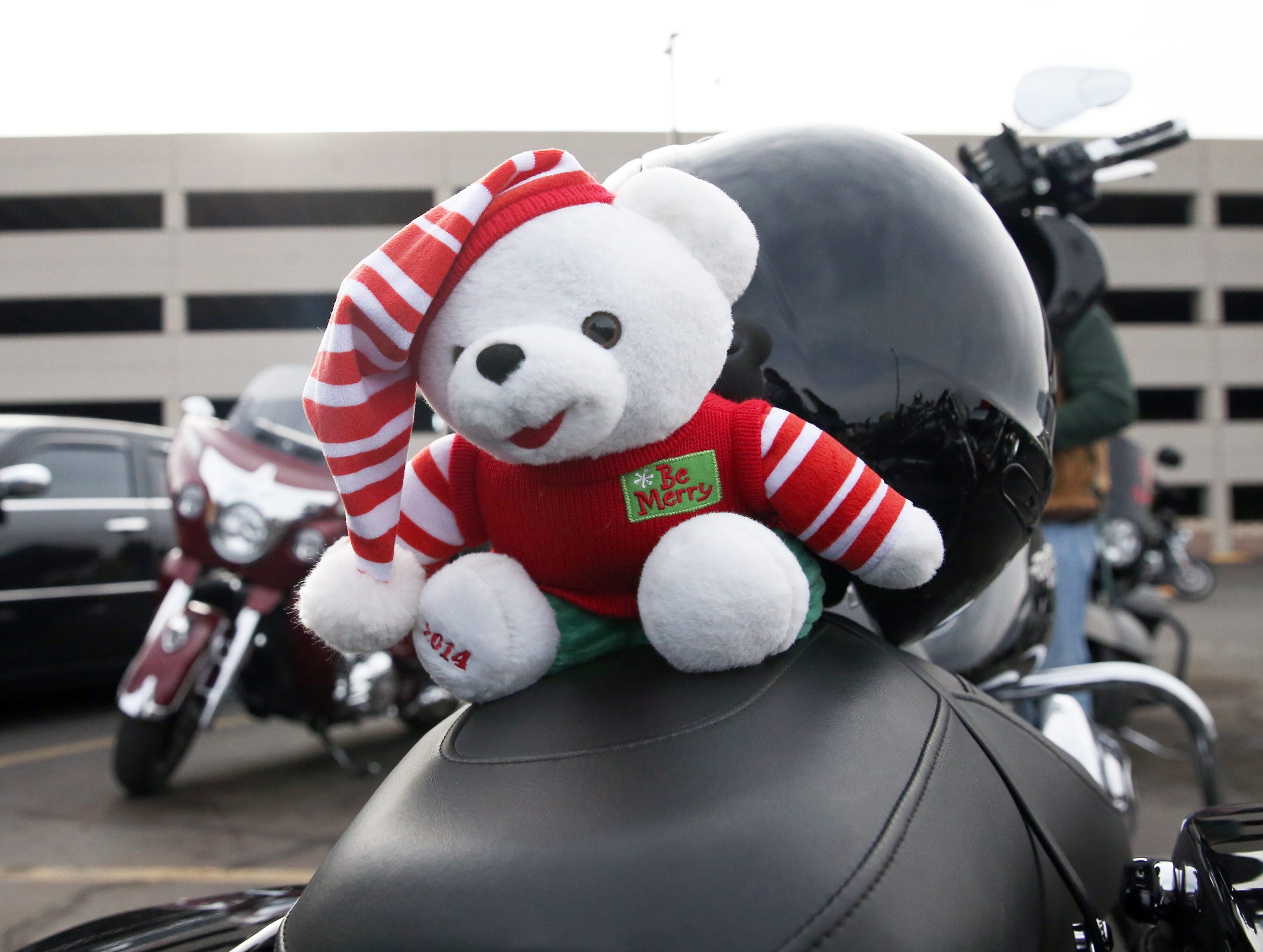 As is their tradition the last 36 years, the El Paso Motorcycle Coalition delivered toys they collected for hospitalized children on Christmas Day.