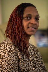 Jennaye Fennell at her home in Newark. She is the driving force behind her children's entrepreneurial works.