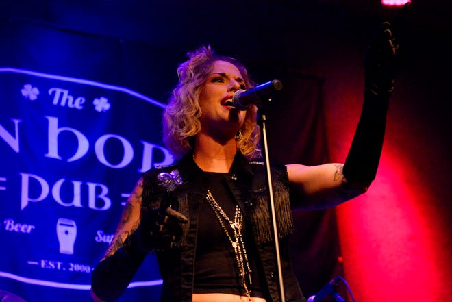 Dallas-based Madonna tribute act Primadonna playing the Iron Horse Pub in the summer of 2018.