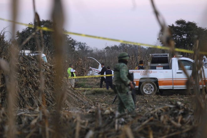 Authorities investigate the area where the remains of the helicopter carrying Governor of Puebla Martha Erika Alonso, and her husband, ex-governor of Puebla Rafael Moreno Valle, crashed. The President of Mexico Andres Manuel Lopez Obrador confirmed that Alonso and Valle died when their helicopter crashed on Christmas Eve. Alonso assumed her role as Puebla governor two weeks ago. Her husband was governor of the state from 2011 to 2017.