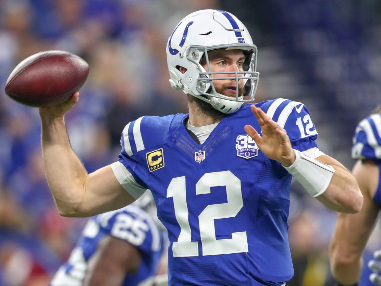 9. Colts (6): Excellent news — Andrew Luck's all-time record against Tennessee is 10-0. Start printing those well-earned playoff tickets, Indy.