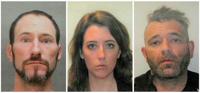 A November 2018 combination of file photos provided by the Burlington County Prosecutors office shows Johnny Bobbitt, from left, Katelyn McClure and Mark D'Amico.
