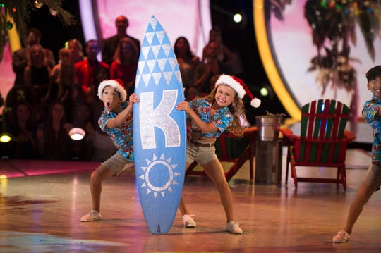 Pro dancer JT Church, left, and skateboarder Sky Brown won the first edition of ABC's 'Dancing with the Stars: Juniors' in December.