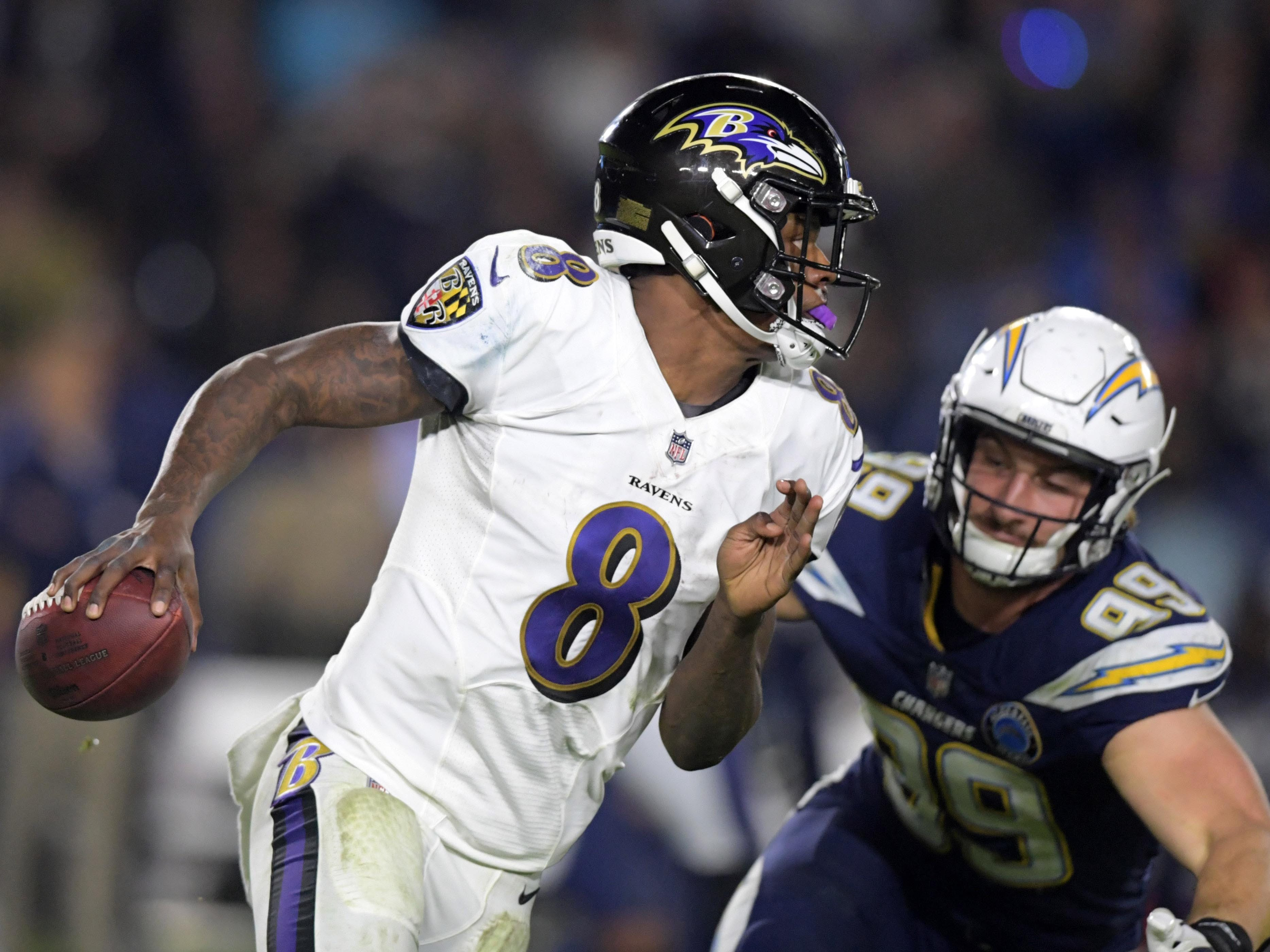 6. Ravens (10): Lamar Jackson's only loss came to Kansas City, the rare team that can put Baltimore in hole it can't climb out of. How else to beat Ravens?