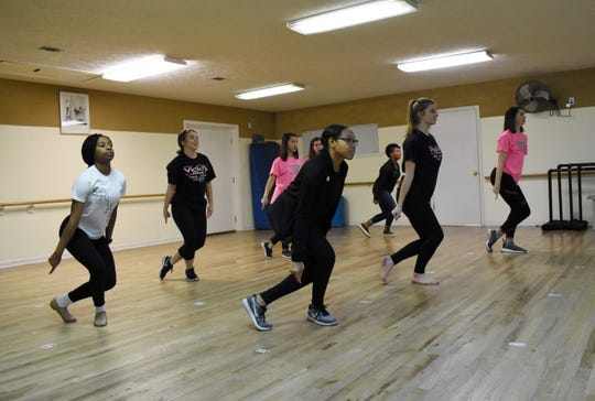 Kelvina Ford (front, right), Kaitlyn Johnson, Katie Scannell, Brianna Jones (back, right), Caroline Drell; nine Vicki's Dance Studio Dancers; Anna Matherene; Elizabeth Cook and Regan Howard are the nine Vicki's Dance Studio Dancers who will be performing as back up dancers at the TobyMac concert Jan. 29 at the Rapides Parish Coliseum.