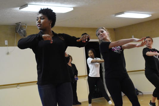 Regan Howard Front Left Brianna Jones Back Middle Kaitlyn Johnson And Caroline Drell Are Among The Nine Vicki S Dance Studio Dancers Who Will Be Performing As Back Up Dancers At The Tobymac Concert Jan 29 At The Rapides Parish Coliseum Vicki Armitage Dance Studio Owner Said She Receive A Call From Tobymac S People Asking If They Had Nine Dances Ages 16 And Up Who Would Like To Dance At The Tobymac Concert