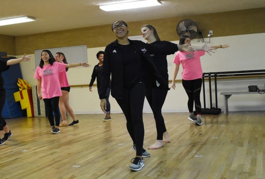 Kelvina Ford (front, right), Kaitlyn Johnson, Katie Scannell Anna Matherene (back, left), Elizabeth Cook and Regan Howard are among the nine Vicki's Dance Studio Dancers who will be performing as back up dancers at the TobyMac concert Jan. 29 at the Rapides Parish Coliseum.