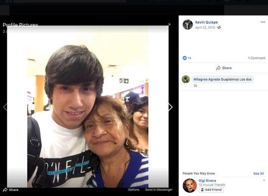 Photo of crash victim Kevin Quispe-Prieto, 21years old.