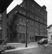 The Binghamton Refrigerating Co., at 237 Water St., as it appeared in 1947.