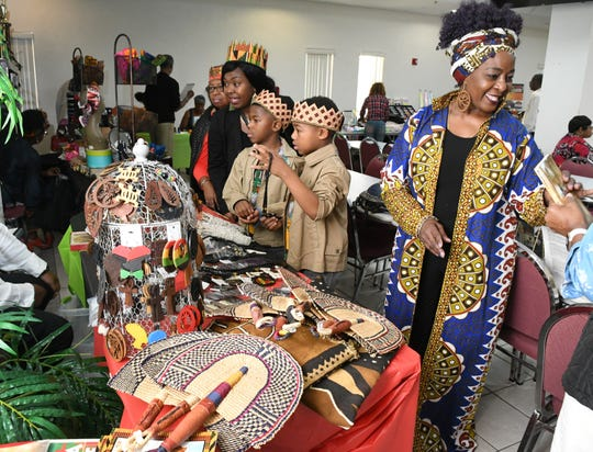 Several vendors were set up last year before the performances began at the seventh annual Kwanzaa Celebration, held at the Rev. John W. Taylor Family Life Center at Macedonia Missionary Baptist Church in Melbourne. Dec. 26 is the first day of Kwanzaa. The free event was hosted by Nguzo Saba Collective, Inc. and included singers, poets, dancers, vendors and more.