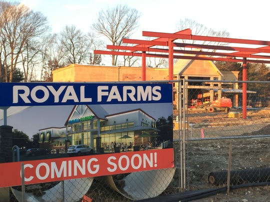 A new Royal Farms convenience store is under construction on Route 38 in Mount Laurel.