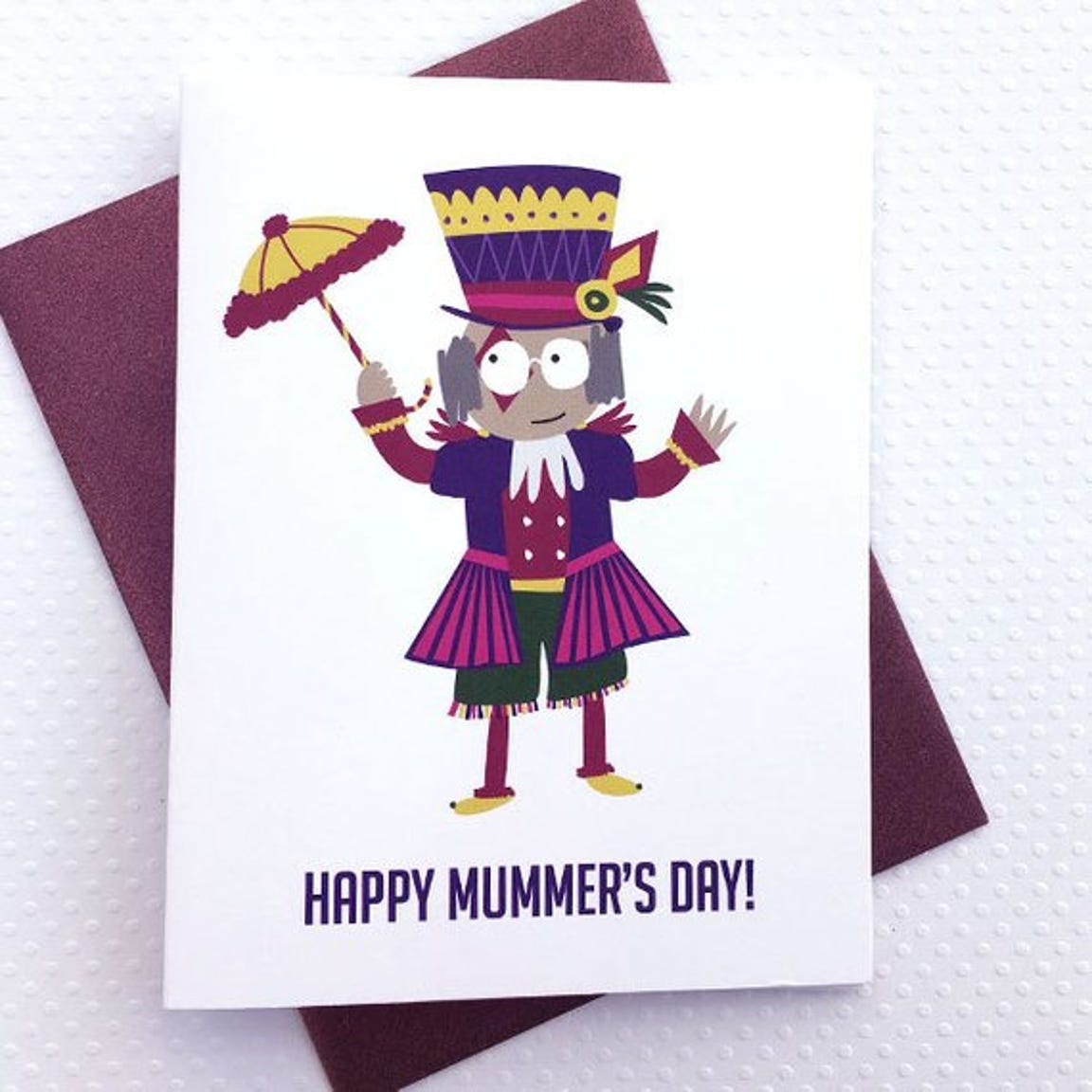 This Happy Mummer's Day card is made by the Etsy shop Frankadelphia.