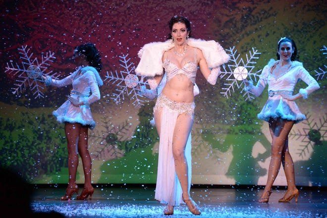"""""""The Burlesque Holiday Show"""" went into the Borgata's Music Box for six straight nights beginning Dec. 26 and concluding on New Year's Eve."""