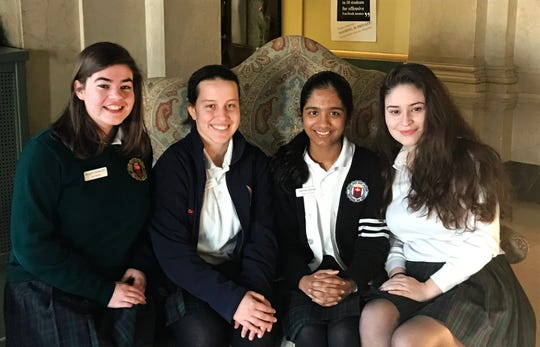 Left to right, are: Maggie Coleman, Victoria Coey, Jerrine George and Michelle Colman.