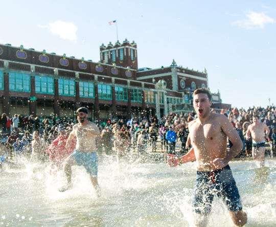 The Polar Bear Plunge will be held on Tuesday, Jan. 1, at Convention Hall in Asbury Park.