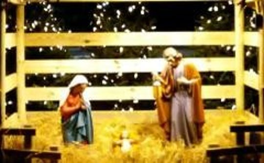 Police are investigating a Christmas Day theft of Baby Jesus and Mary (shown here before the theft) from Saint Augustine Church of Canterbury Roman Catholic Church in the Kendall Park section of the township.