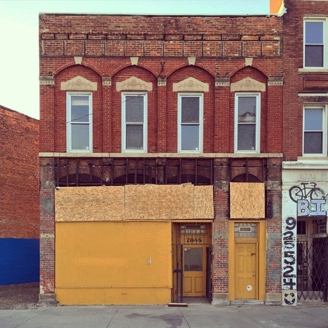 Rehabilitation of older buildings like this structure on Gratiot in Detroit could be helped by the restoration of the state's historic preservation tax credit.