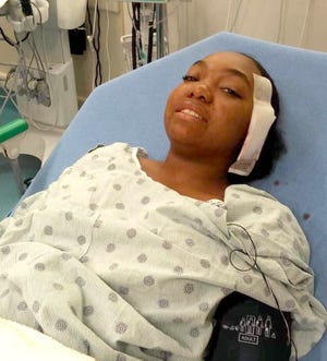 Myonna Lanton, 14, recovered in the hospital for three days after her home was sprayed with bullets on Oct. 14, 2018. A stray bullet entered Lanton's skull and was lodged in the bone underneath her left eye, she survived the wound.