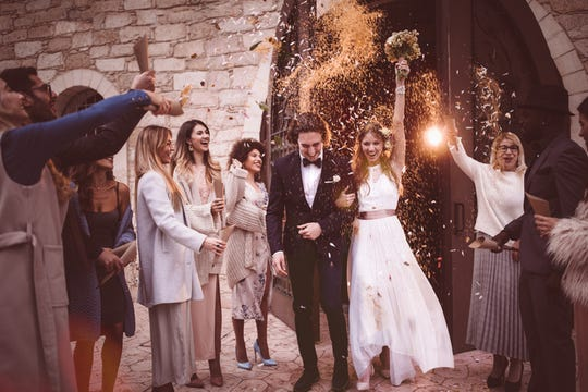 4.3 million guests will attend nearly 34,000 weddings on Saturday, Oct. 19, the most popular wedding day of the year, according to The Knot and WeddingWire.