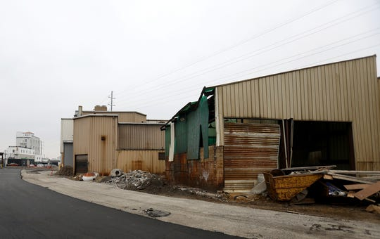 An exterior look at part Iron Ridge Marketplace in Ferndale on Tuesday December 11, 2018. The former wire factory is being converted into a variety of businesses from a fitness center to office space.
