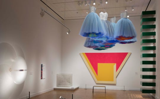 "Isabel and Ruben Toledo's ""Synthetic Cloud"" hang in the DIA's contemporary galleries."