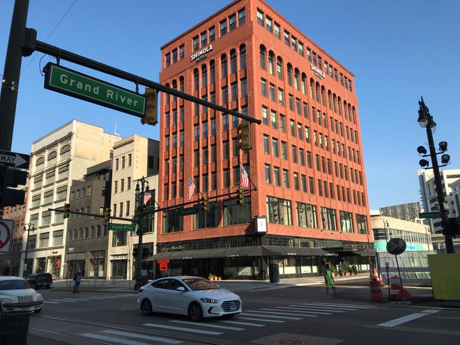A bomb threat was called in at 1400 Woodward, the location of the new Shinola Hotel.