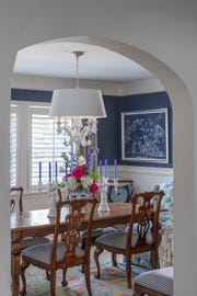 For more formal occasions, this dining room is where all the fun takes place.
