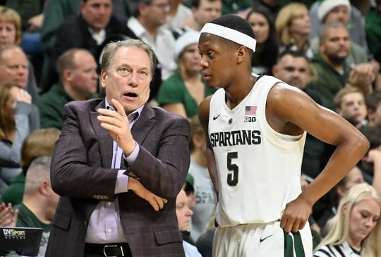 Tom Izzo and Cassius Winston