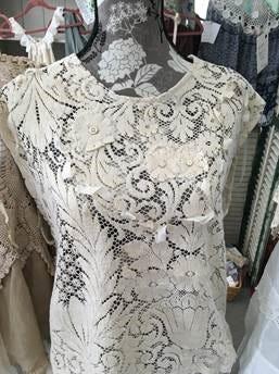 Antique lace top