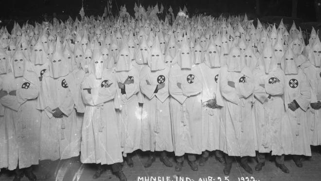 Archived photo of the Muncie, Indiana Klu Klux Klan charter.