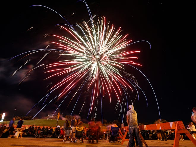 Waupun held their Forth of July fireworks display Sunday, July 1, 2018 to close out Celebrate Waupun at Tanner Park in Waupun.