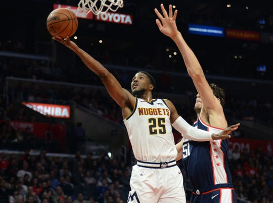 The Denver Nuggets are at Memphis at 6 p.m. Tuesday.