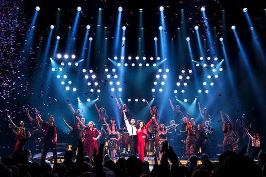 "A scene from the Miami Sound Machine musical ""On Your Feet!"""