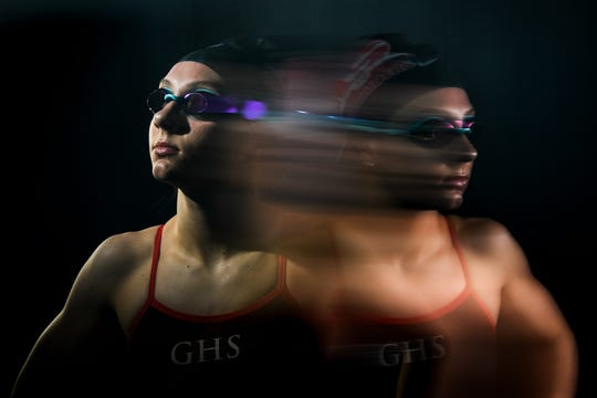 2018 All-Upstate girls swimmer of the year finalist Anna Haven Rice of Greenville High School.