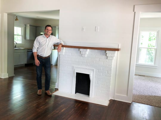 Bailey & Co. Real Estate owner Justin Bailey in the restored Sears, Roebuck mail-order Craftsman home just before it was put on the market in June 2018.
