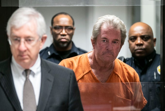 """Roger Burdette, 60, was arraigned in district court Wednesday morning. A judge denied his attorney's request to lower the $200,000 bond. His next court date is set for January. Burdette is accused of killing Louisville Metro Police Detective Deidre """"Dee Dee"""" Mengedoht after ramming her stopped police car while he was driving an MSD semitruck on I-64 Christmas Eve. Dec. 26, 2018"""