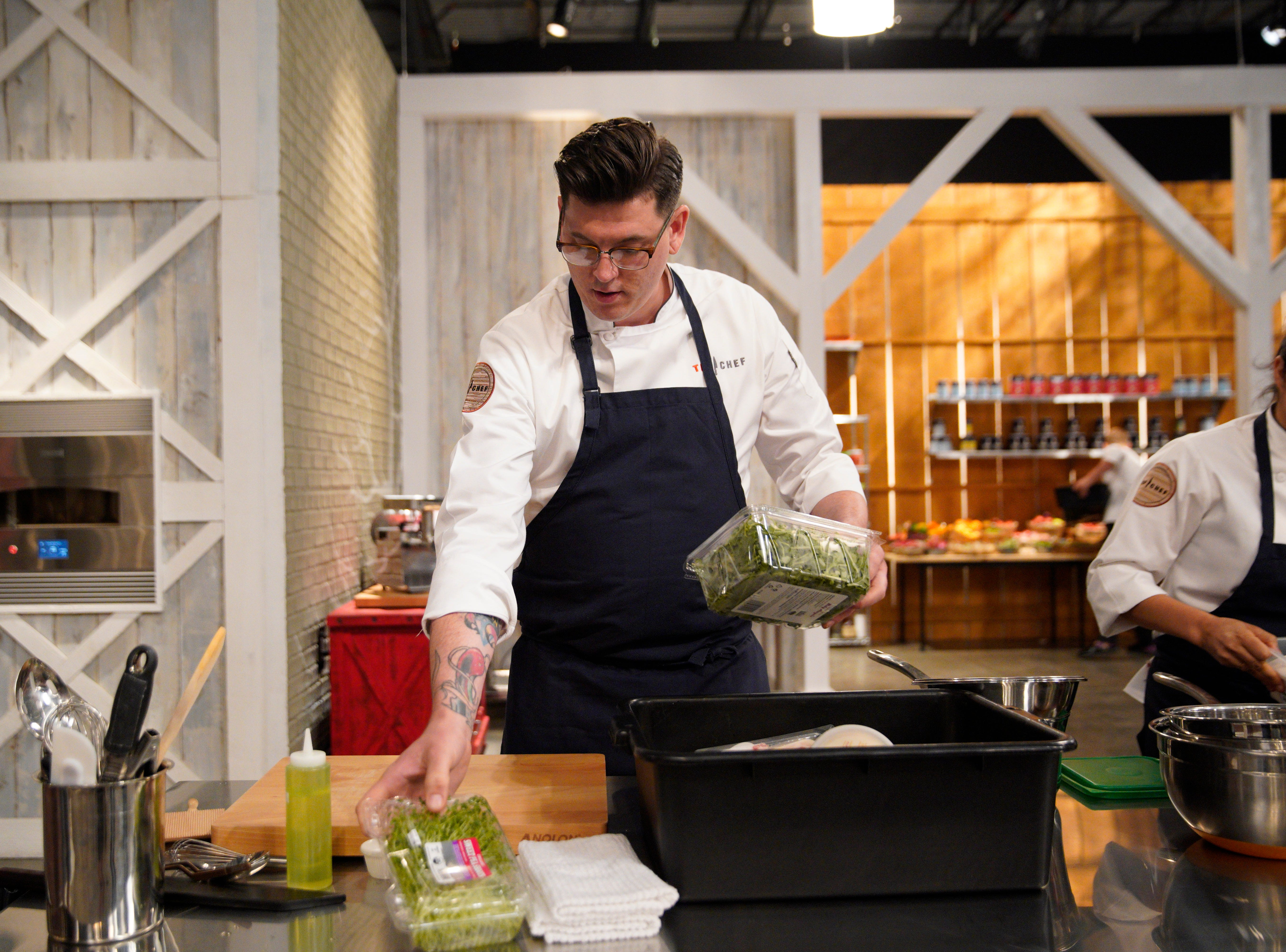 "Contestant Brian Young on episode 4 of Bravo's ""Top Chef"" Kentucky."
