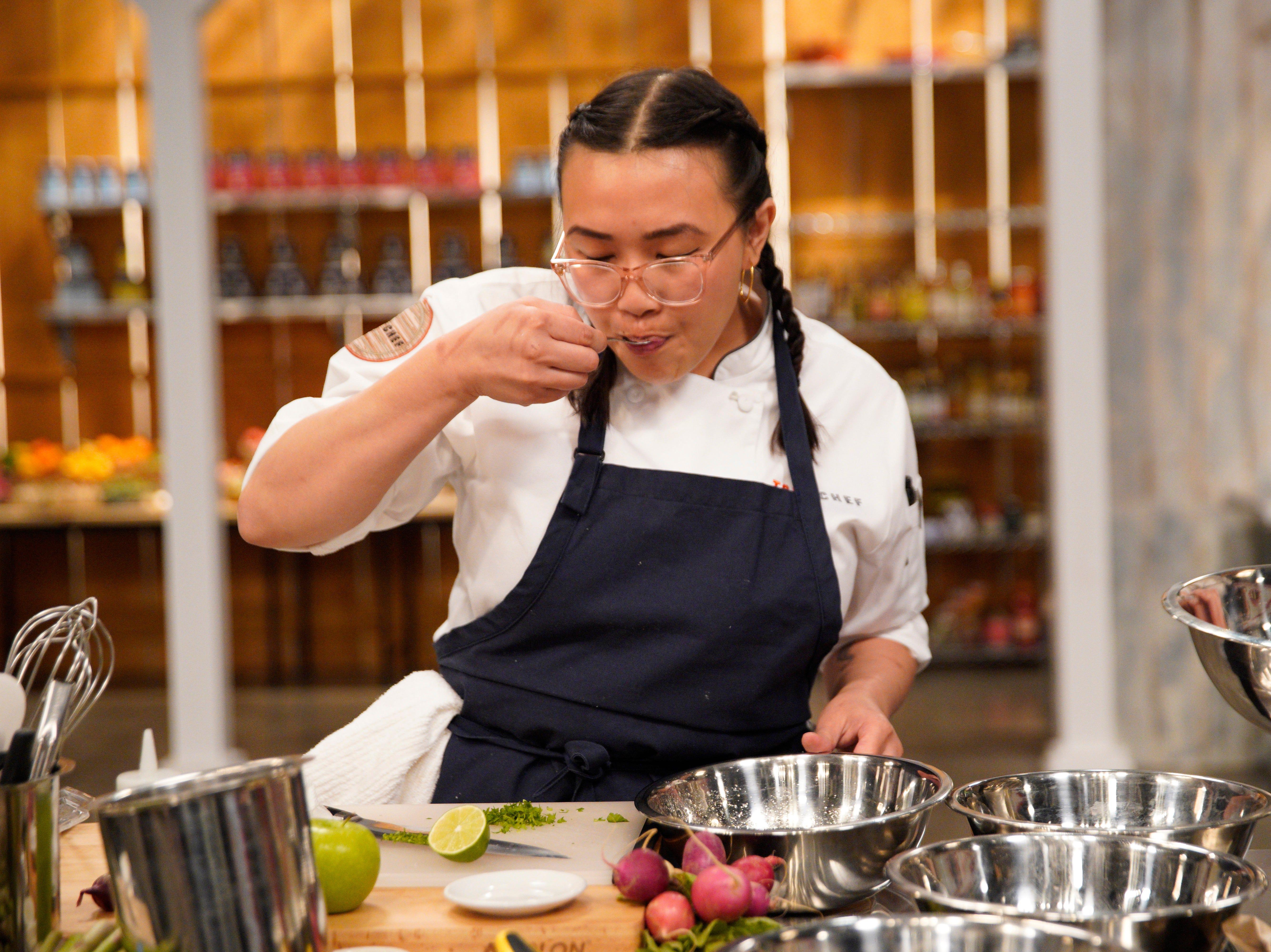 """Contestant Nini Nguyen on episode 4 of Bravo's """"Top Chef"""" Kentucky."""