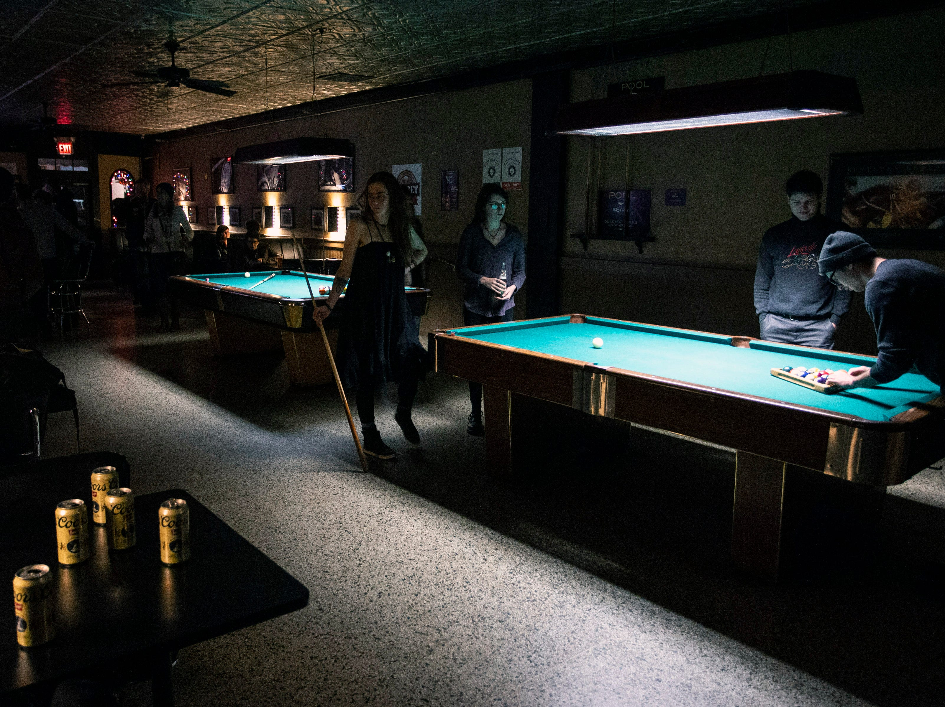 There's action on every pool table at the Barret Bar on Wednesday nights. 12/5/18