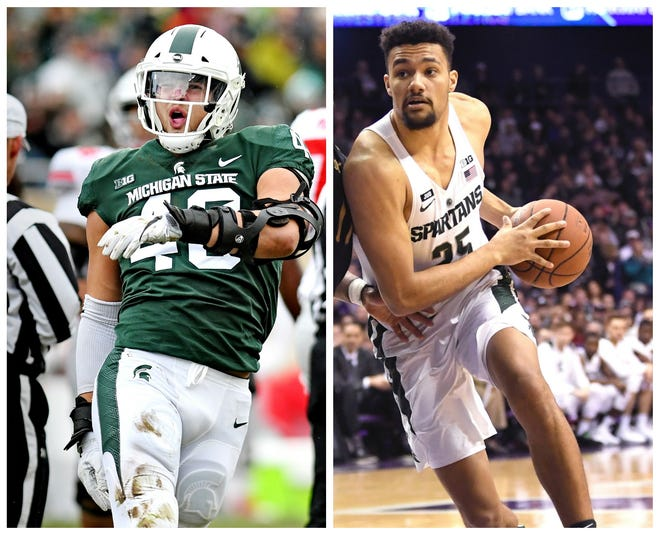 Kenny Goins, right, and Kenny Willekes, left, have gone from walk-ons to staples of MSU's basketball and football programs.